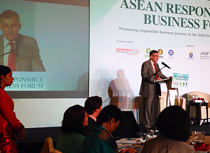 InterPraxis featured speaker at ABF's conference on CSR in Singapore.